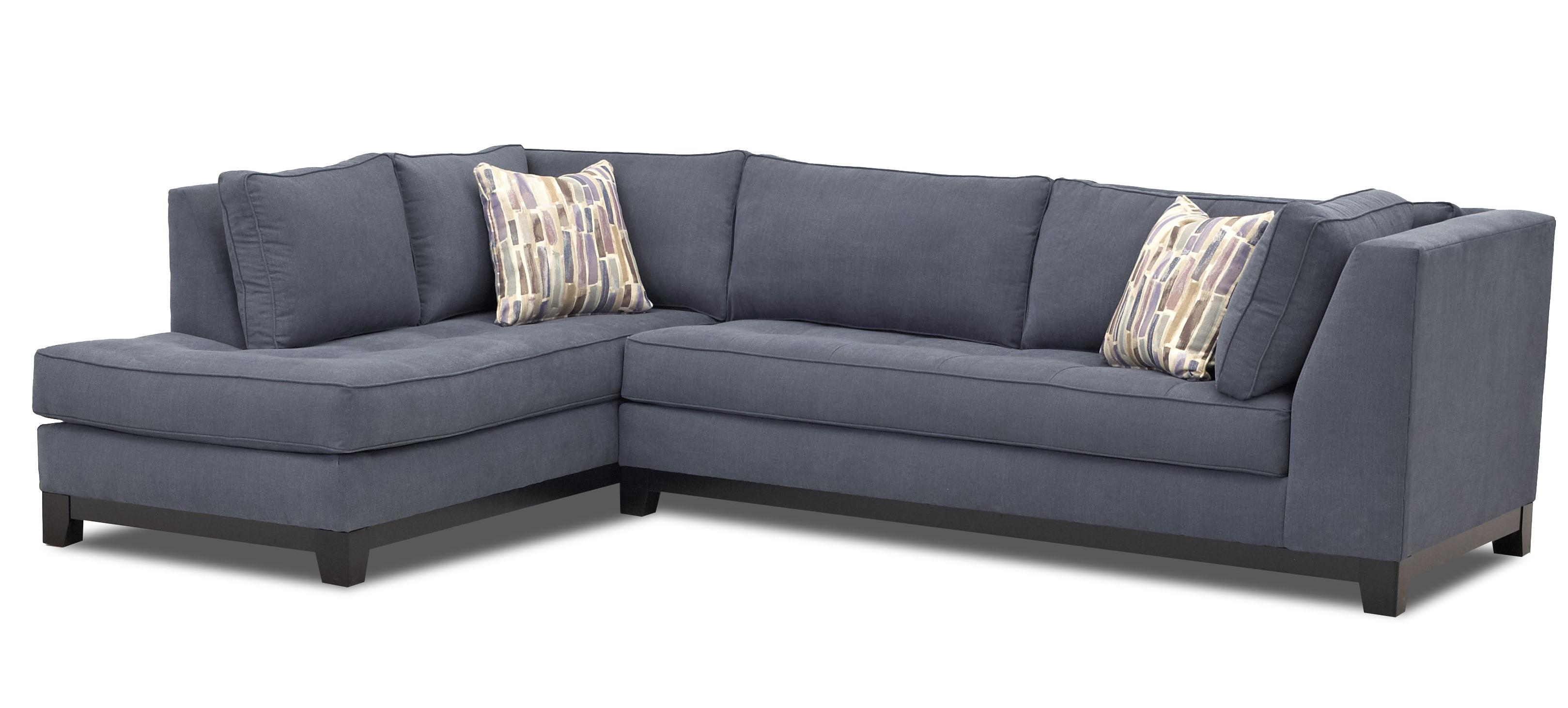 klaussner biscoe contemporary 2 piece sectional sofa with chaise