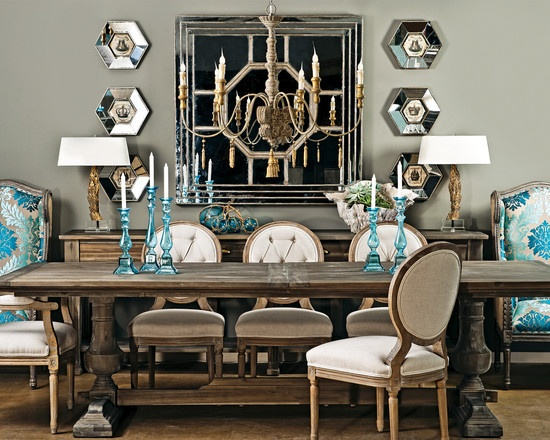 Recreate your room rustic glam stylin 39 with sheely 39 s for Glam dining room ideas