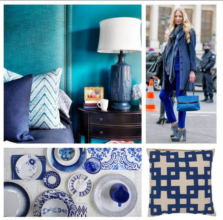 Navy Cobalt Blue White Home Decor Navy White Ikat Wall Art For Starters When It Comes To Trendy Colors In 2015 It S All About The Blues