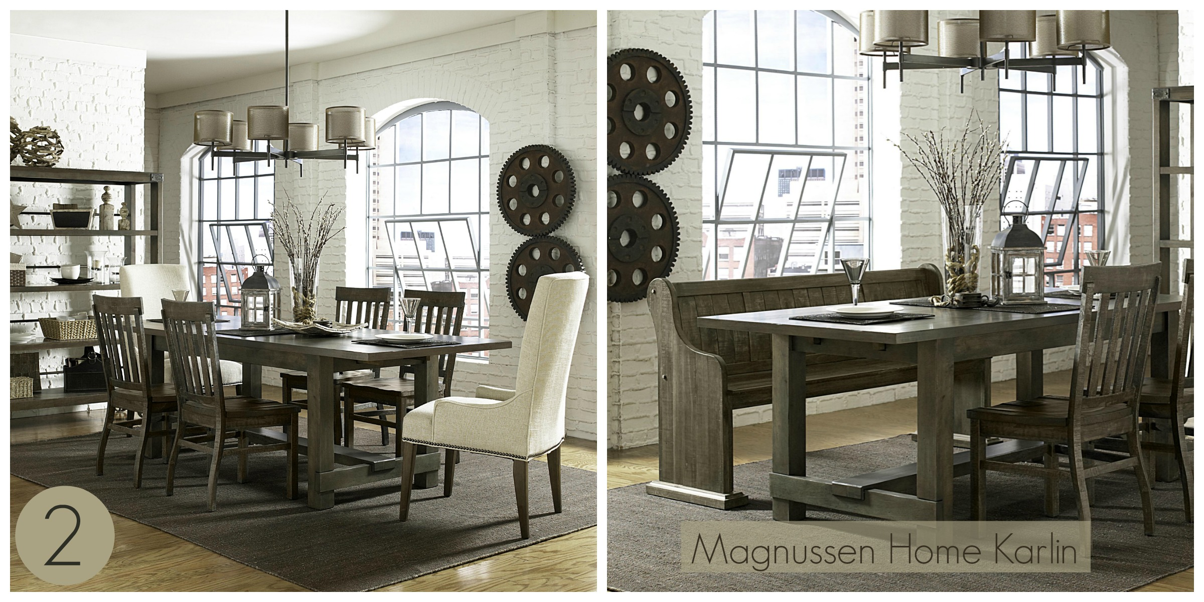 although this dining set falls more into the casual side rather than formal i am obsessed with this look the magnussen home karlin dining room group - Magnussen Dining Room Furniture