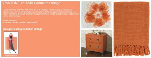 Cadmium Orange Collage