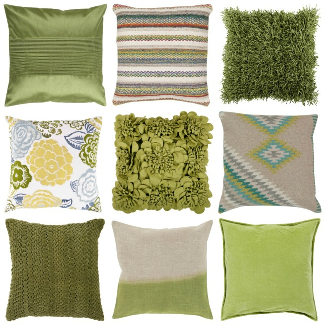 greenery-pillows