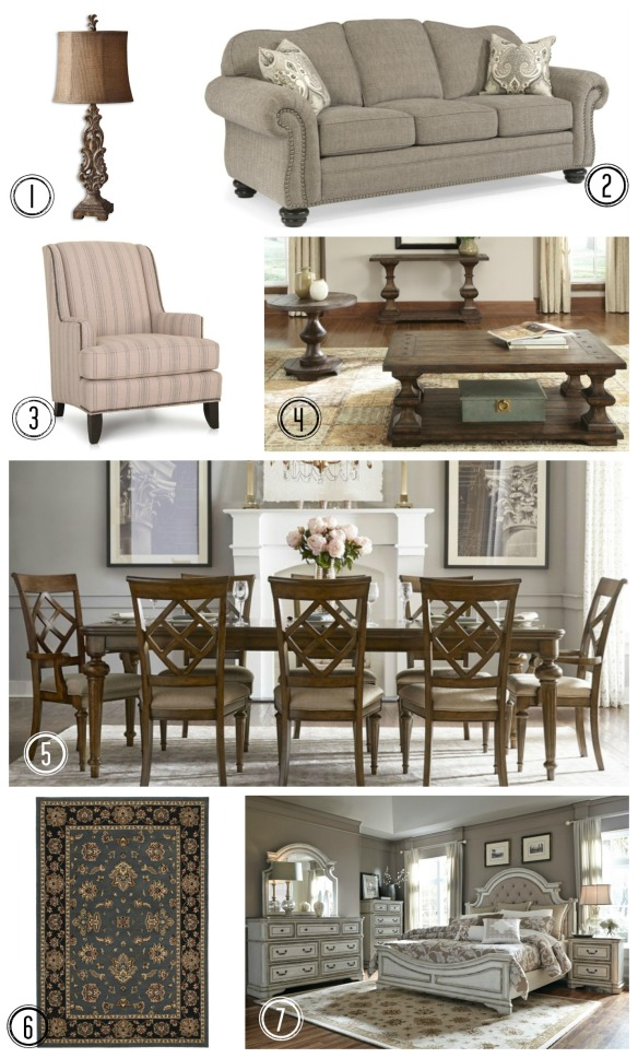 Traditional Furniture Collage
